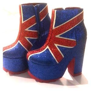 Y.R.U. Union Jack Platform Boots